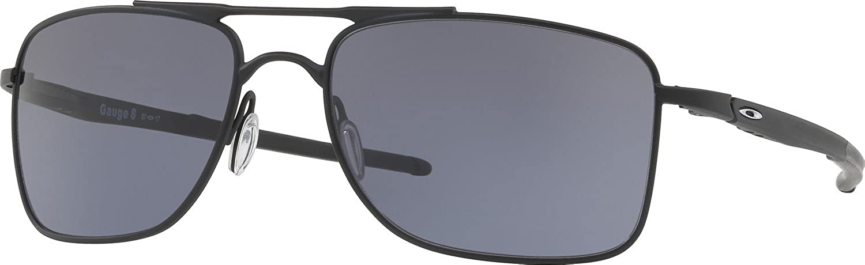Oakley Herren Gauge802 Sonnenbrille, Silber (Plateado), 57