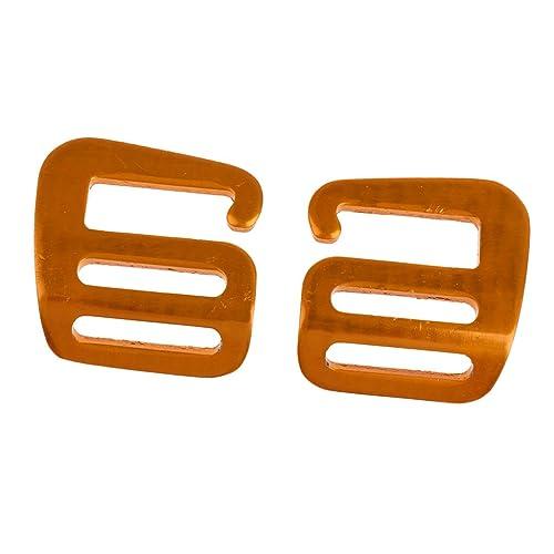 Gürtel Orange-Gold mit Großer Metall-Schnalle