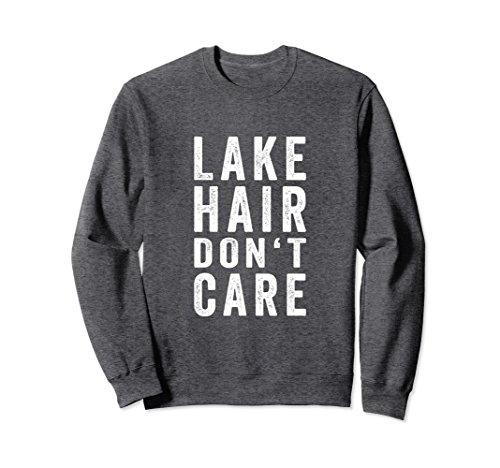 Unisex Lake Hair Don't Care Sweatshirt | Lake Bum Sweatshirt Large Dark - Quiet Life Hat