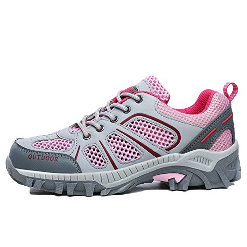 Shoes Shoes Sneakers Climbing Waterproof Women Mountain Breathable Walking Mesh Ladies Pink snfgoij Outdoor Hiking HARyUYcq6