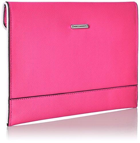 Neon Rebecca Minkoff Leo Clutch Pink Storm Grey FpRtqxp