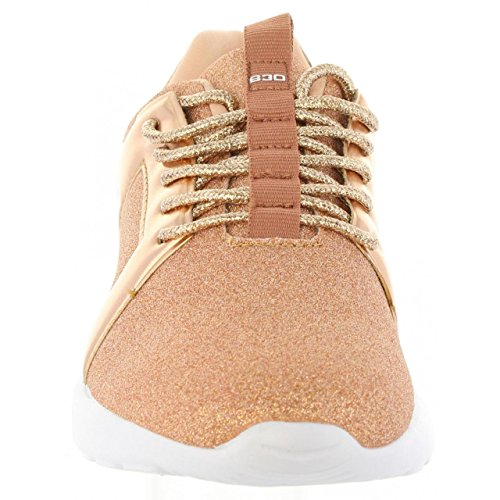 Femme 41436 Glitter de Chaussures bass3d pour Sport Nude qfWCF