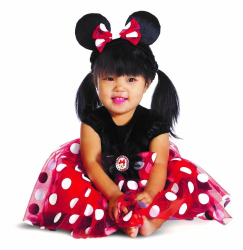 [Red Minnie Mouse Costume - Baby 12-18] (Infant Red Minnie My First Disney Costumes)