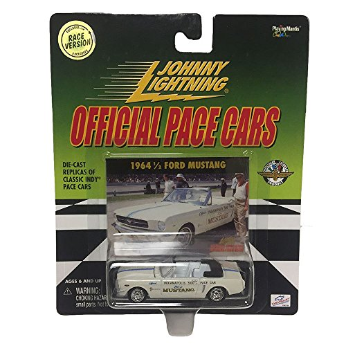 Johnny Lightning Official Pace Cars 1964 1/2 Ford Mustang Race Version 1:64 Diecast Metal Car Replica - Jack And Jill Costume Sale