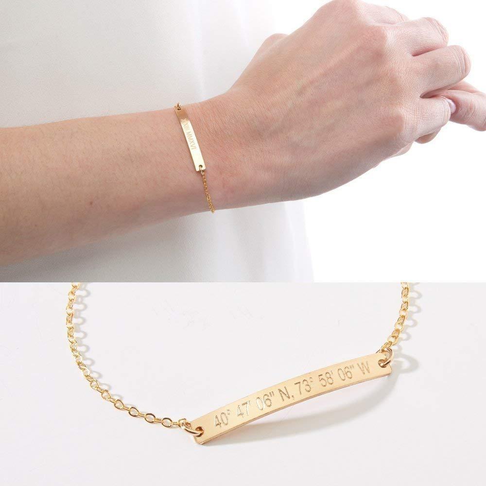 Custom Bar Personalised Bracelet