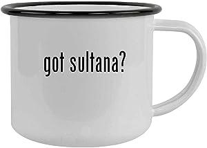 got sultana? - 12oz Camping Mug Stainless Steel, Black