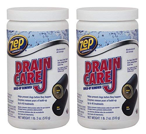 ZDC16 Drain Care Build-Up Remover 2218 Powder 18 Ounces, 2 Pack
