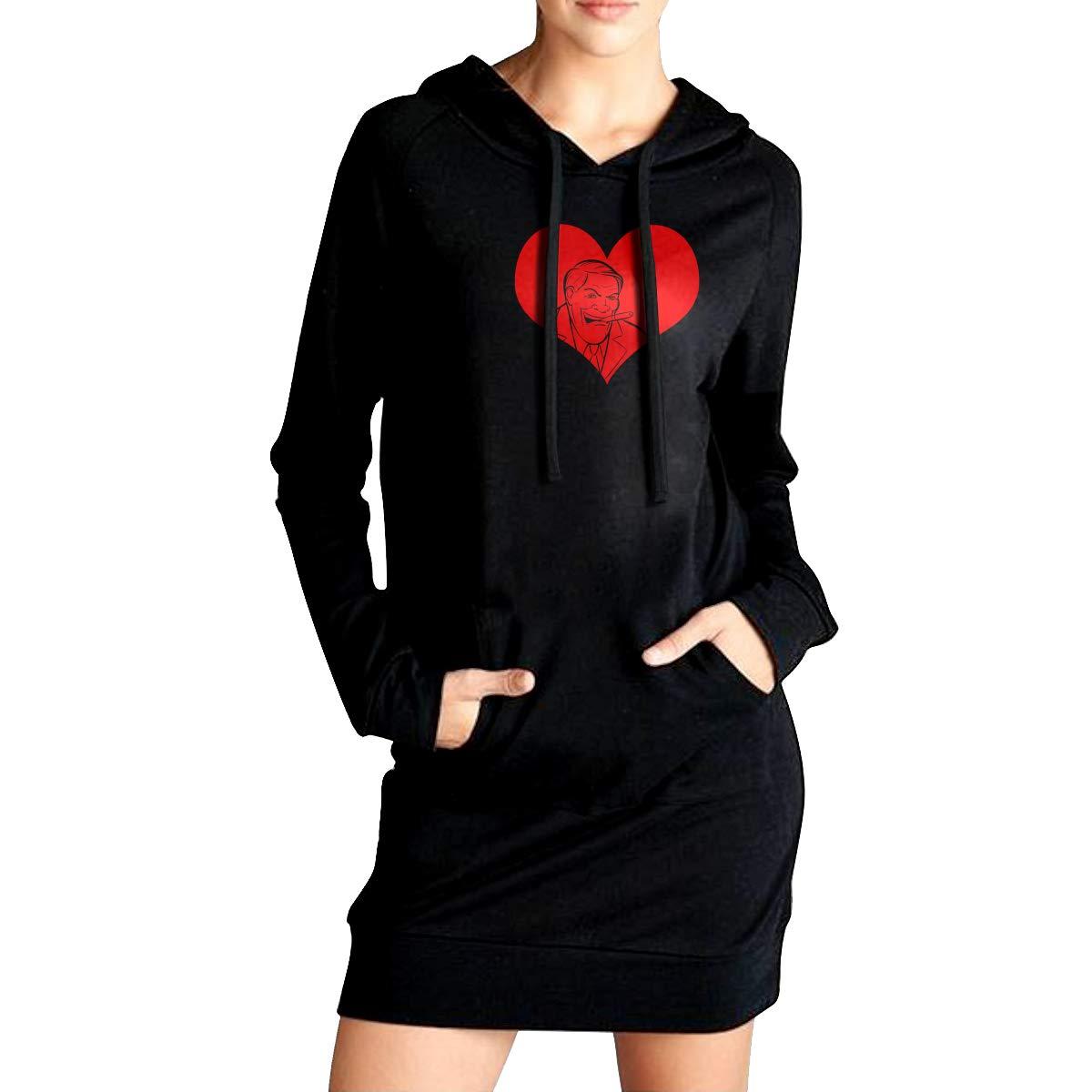 TDYUS DesignName Womens Fashion Black Hoodie With Pocket