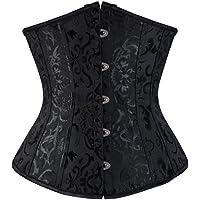 KESYOO Waist Corset Underbust Wedding Shapewear For Bride Lady Black Waist Training Body Shaper Size M