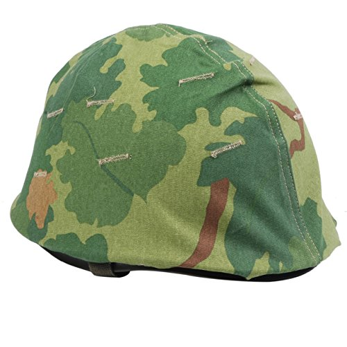 Heerpoint Reproduction Ww2 Wwii Us Army M1 Helmet+Vietnam War US Military Reversible Mitchel Camouflage Helmet Cover by Heerpoint™