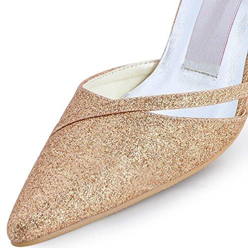 Heel Tacco Gold Col Donna Minitoo 9cm Scarpe UwxHUY