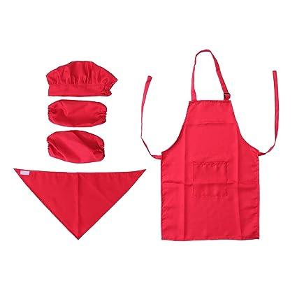 20b2356a0e1 Toyvian Juego de cocina para niños Juego completo de regalo de cocina para  niños con delantal ...
