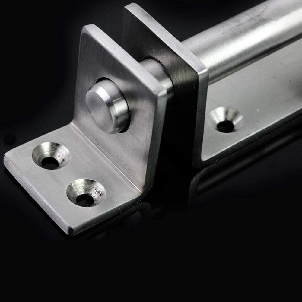 MUMA Latch Silver Stainless Steel Thicken Anti-theft Corrosion Resistant Insert Lock Door Buckle Color : Silver no lock