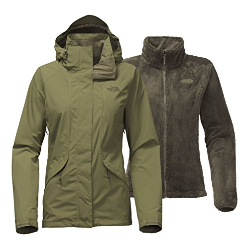 The North Face Women's Boundary Triclimate Jacket - Burnt Olive Green - L (Past ()