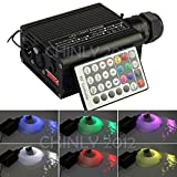 DMX 16W RGBW LED plastic Fiber Optic Star Ceiling Kit Lights 200pcs 0.75mm 6.5ft optical fiber lighting+Remote+crystal