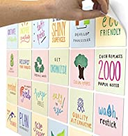 M.C. Squares Stickies Reusable Sticky Notes   24-Pack 4x4 2-Year Re-Stickable Mini Whiteboards   6 Each Yellow