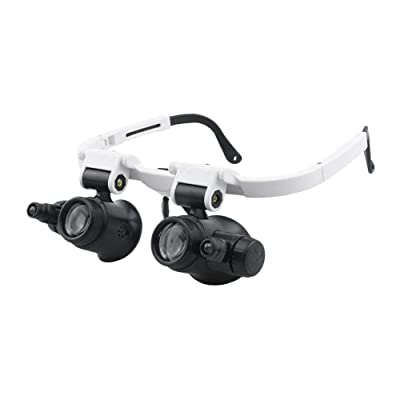 Loriver Magnifying Glass LED Light Head Loupe Jeweler Watch Bright Magnifier w/ 3 Lens: Home Improvement