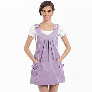 Haz Traje Vestido de premamá Estaciones metal de fibra Haz Traje Chaleco Vestido, color morado