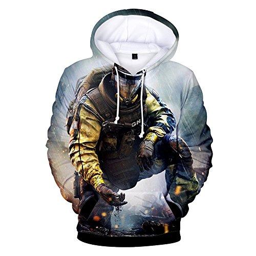 VOSTE Rainbow Hoodie 3D Printed Hooded Pullover Sweatshirt (Large, Color (Rainbow T-shirt Sweatshirt)