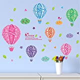 YUMULINN wallpaper stickers Wallpapers murals Wall Stickers Bedroom Living Room Background Wall Stickers Children's Room Decoration Nursery Door Stickers Hot Air Balloon Clouds, 40X30CM