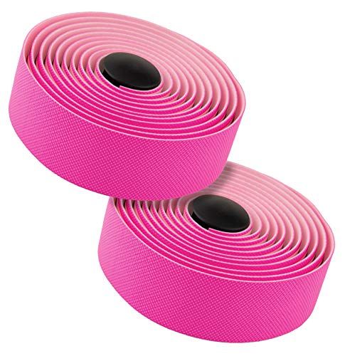 MARQUE Diamond Pattern Bar Tape – Road Bike Handlebar Wrap with Tacky Non-Slip Grip and Padded Vex Gel Silicone Backing – 2PCS per Set -