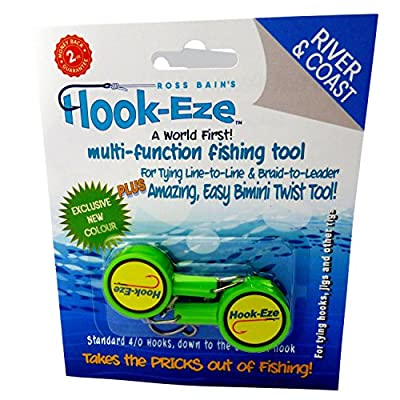 Hook-Eze Fishing Tool - Hook Tying & Safety Device + Line Cutter - Cover Hooks on 2 Poles & Travel Safely fully rigged. Multi function Fishing Device.
