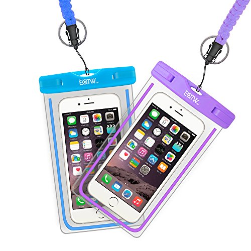 (EOTW 2 Pack IPX8 Universal Waterproof Case Smartphone up to 6