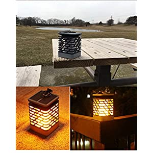 Solar Lights Outdoor Espier LED Flickering Flame Torch Lights Solar Powered Lantern Hanging Decorative Atmosphere Lamp for Pathway Garden Deck Christmas Holiday Party Waterproof Auto On/Off(2 pack)