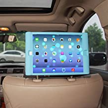 TFY Kids Car Headrest Mount Holder for iPad Air (iPad 5 5th Generation) - Detachable Lightweight Shockproof Anti-slip Soft Silicone Handle Case, Kids Security Hands-Free Headrest Travel Bracket Stand for Road Trip - Blue