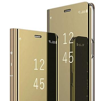 MSPTER Carcasa compatibles con Huawei P9 Plus Funda Espejo ...