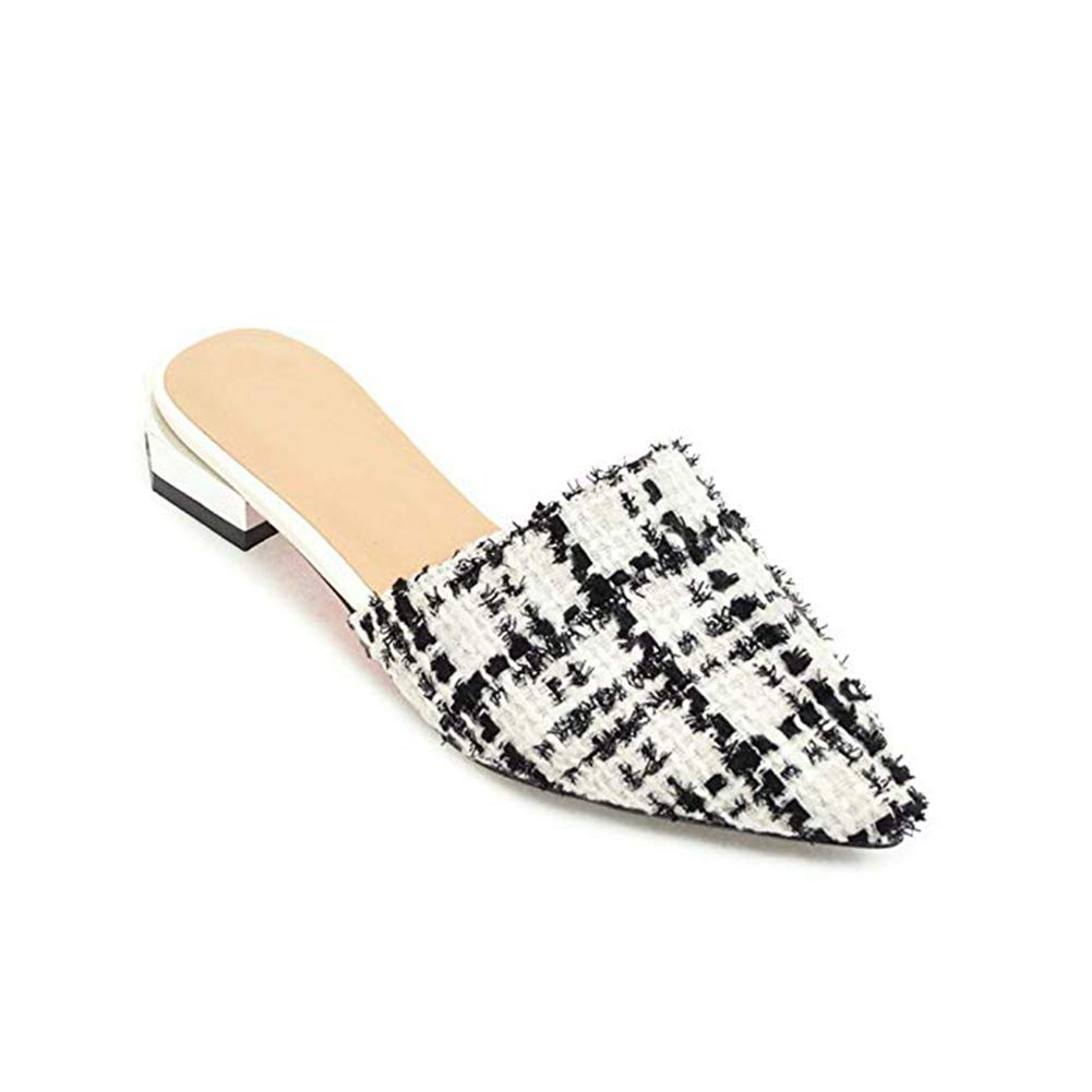 T-JULY 2018 Fashion Fashion Flat Sandals Pointed & Closed Toe Mules Home Slippers Slides Slip On Lazy Dress Shoes