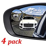 Kribin 4 Pack Blind Spot Mirror, 2' Round HD Glass Frameless Convex Rear View Blind Spot Mirror Stick On with 360° Rotation Adjustable for SUV Car Auto