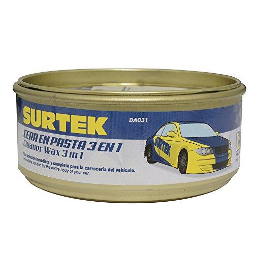 Surtek DA031 Cera en Pasta 3 en 1 (Pule, Abrillanta y Encera), 340 g