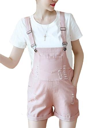 83d1ecf67f730 Huateng Summer Casual Jumpsuit - Pregnant Women Fashion Denim Shorts Suit:  Amazon.co.uk: Clothing