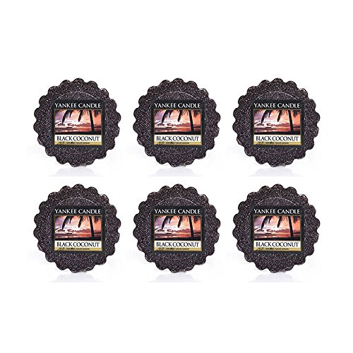- Yankee Candle Lot of 6 Black Coconut Tarts Wax Melts