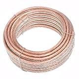 Conext Link PSC10CGS-25 Parallel Gold Silver Speaker Cables Full Gauge Oxygen Free Copper Zip Wire (10 Gauge, 25 feet)