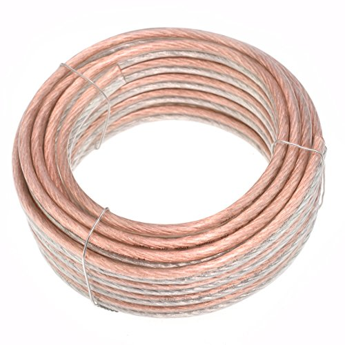 Conext Link PSC10CGS-25 Parallel Gold Silver Speaker Cables Full Gauge Oxygen Free Copper Zip Wire (10 Gauge, 25 feet)