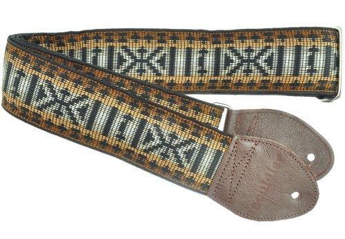 - Souldier GS0886BK02WB Custom USA Handmade Zapata Guitar Strap - Brown/Black