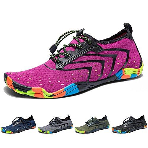 Schnelltrocknend Strandschuhe Madaleno für Schuhe Pink Wasserschuhe Badeschuhe Damen Schwimmschuhe Surfschuhe Aqua Herren BwqT0xw