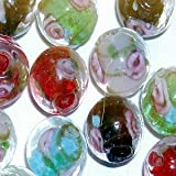 A4468 10 pieces 12mm Pale Pink Lampwork Heart Glass Beads
