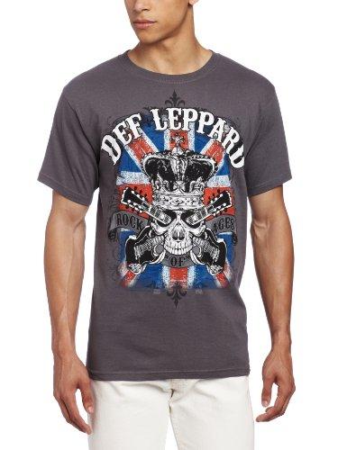 FEA Mens Def Leppard Rock Of Ages Mens T-Shirt