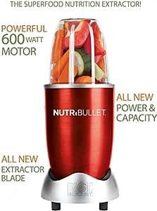 Magic Bullet NBR-1201R 12-Piece Hi-Speed Blender/Mixer System, Red