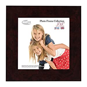 Inov8 5 X 5-inch Picture/Photo Frame, Pack of 4, Walnut Gloss