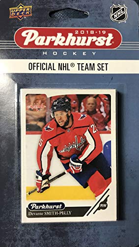 (Parkhurst Washington Capitals 2018 2019 Upper Deck Series Factory Sealed Team Set Including Alexander Ovechkin, Nicklas Backstrom, Braden Holtby and 7 Others)