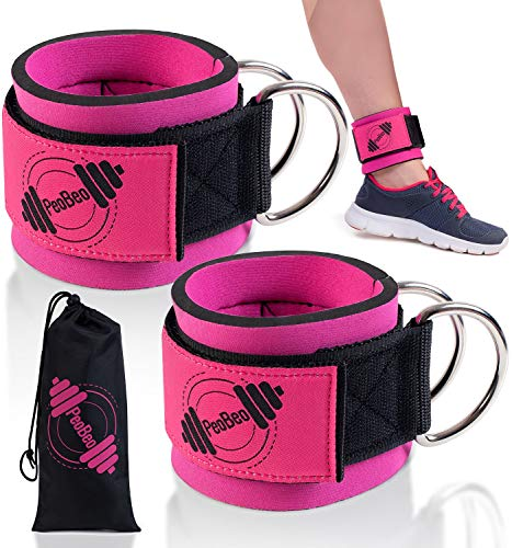 (Ankle Straps for Cable Machines - Pair Pink)