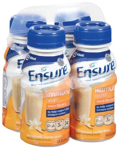 Ensure Immune Health Homemade Vanilla Liquid, 8-Ounce (Pack of 16)