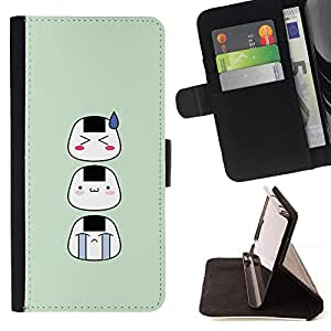 Momo Phone Case / Flip Funda de Cuero Case Cover - Funny Asian Faces - LG G4c Curve H522Y (G4 MINI), NOT FOR LG G4