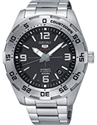 Seiko 5 Sports SRPB79 Mens Stainless Steel Black Dial 100M Automatic Watch