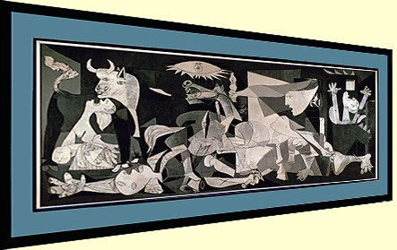 Pablo Picasso Guernica Custom Framed Poster Print High Quality Display (Display Framed Custom)