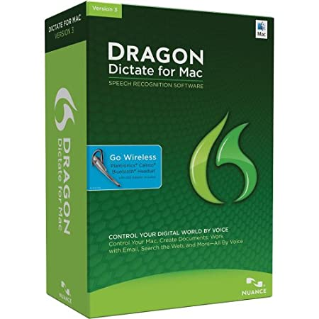 Dragon Dictate for Mac 3.0, with Bluetooth Headset